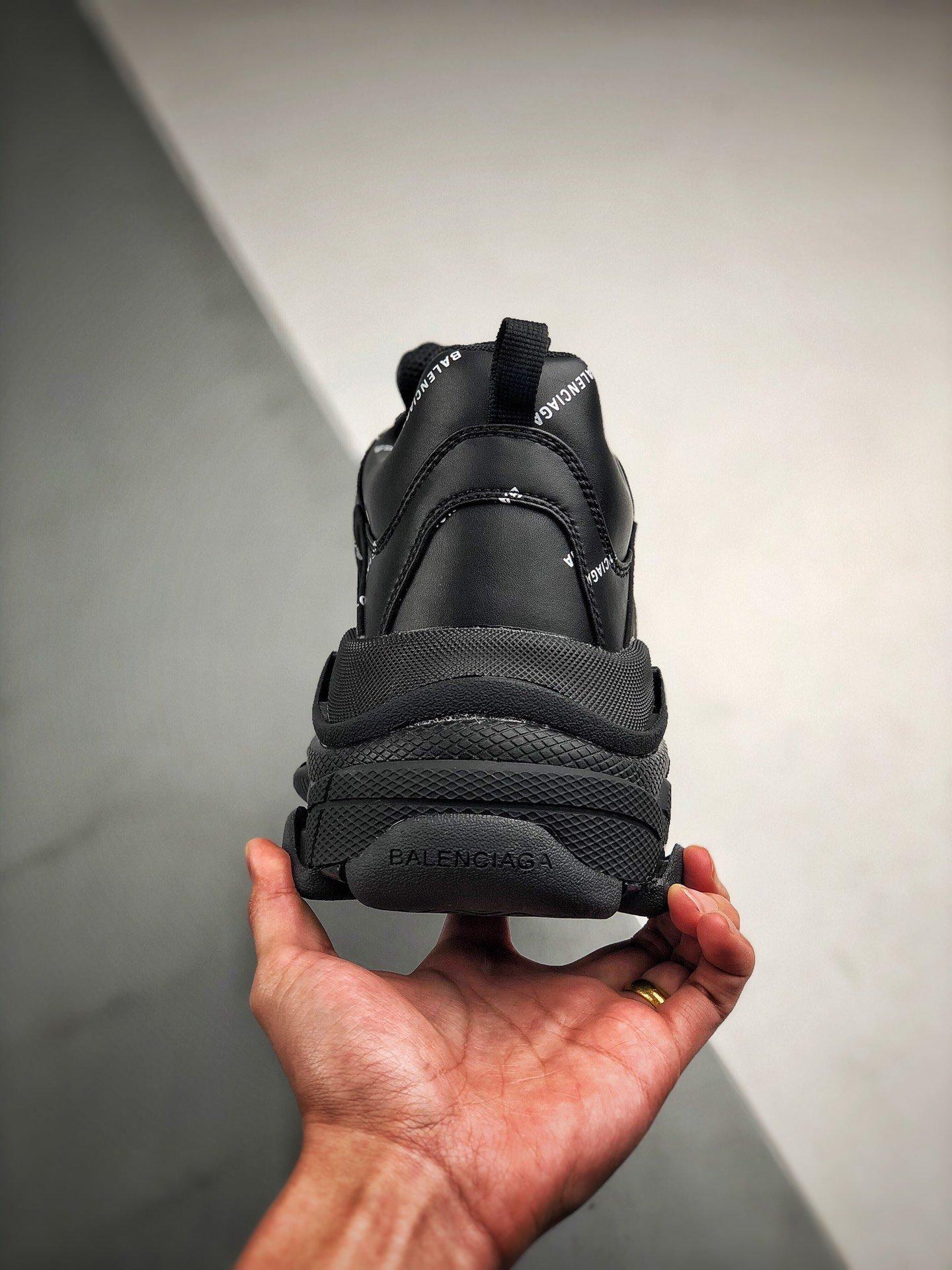 Balenciaga Triple S 纯黑弹幕_莆田鞋h12和og哪个好