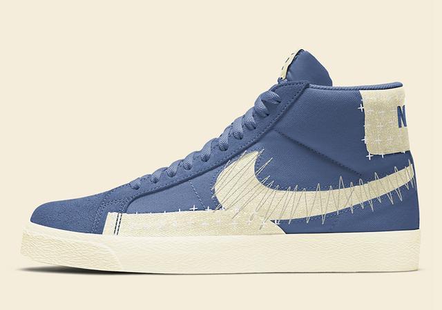 "Nike SB Blazer Mid Premium ""Sashiko"" 货号:CT0715-400_福建莆田高仿鞋批发"