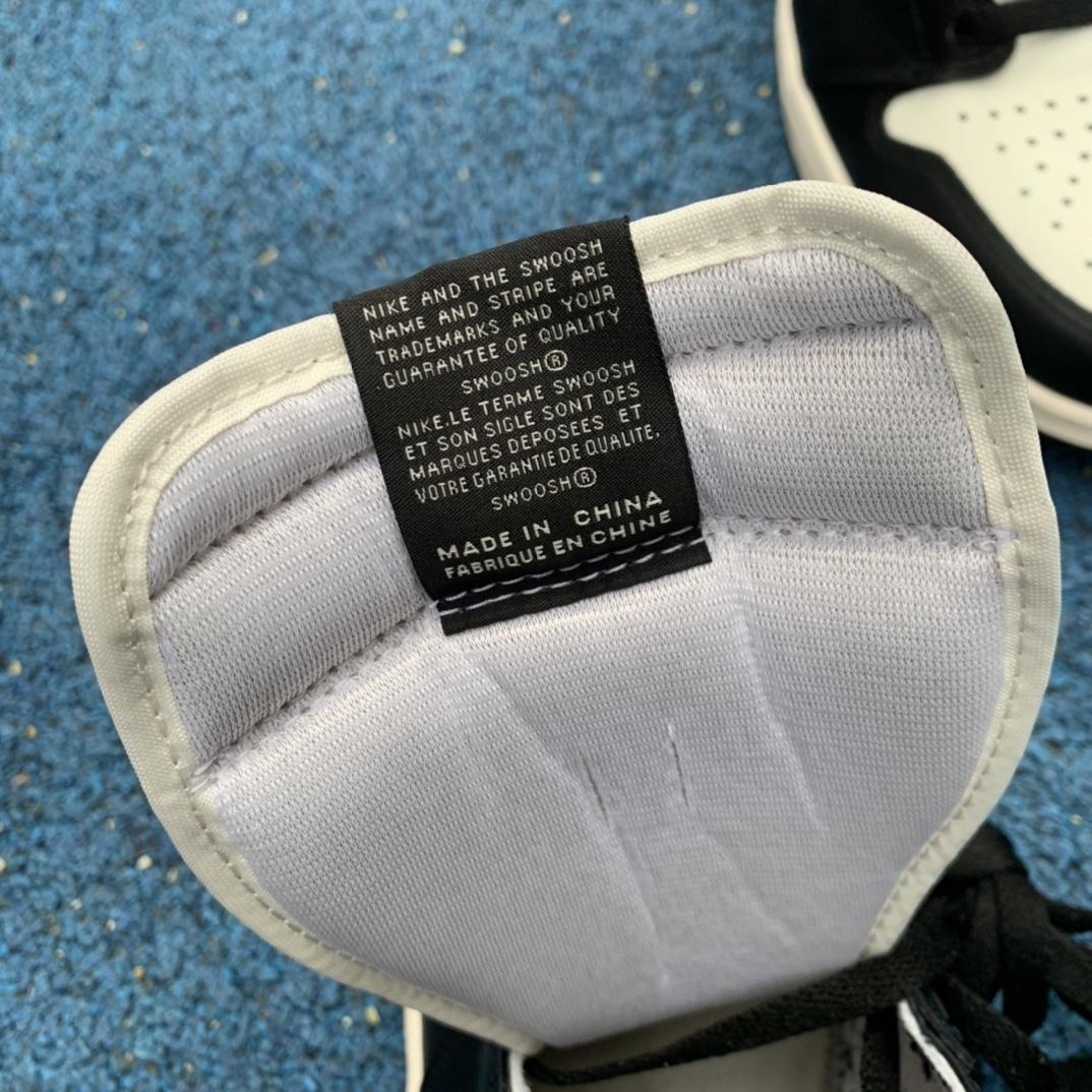 特供版-LJR出品-材料-Air Jordan1 Dark Mocha AJ1小倒钩 黑棕黑摩卡高帮555088-105_ljr版本和h12
