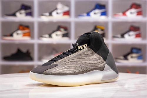 H12版_椰子篮球鞋 橄榄绿 实战版 Yeezy QNTM Barium 货号_H68771,尺码__ 40-48 (含40.5 42.5 44.5 46.5)_椰子350 h12