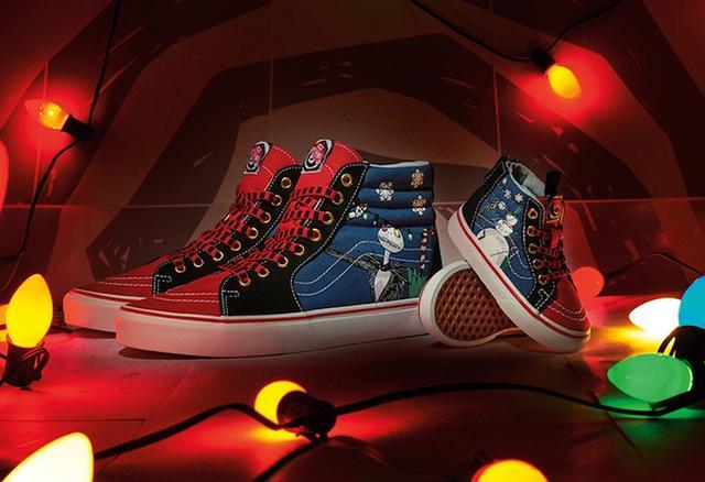 Disney x Vans Sk8-Hi 圣诞节配色_三台鞋批发市场在哪里