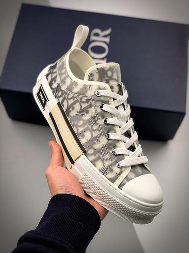Dior B23 Oblique High Top Sneakers 迪奥黑白低帮_莆田工厂代号