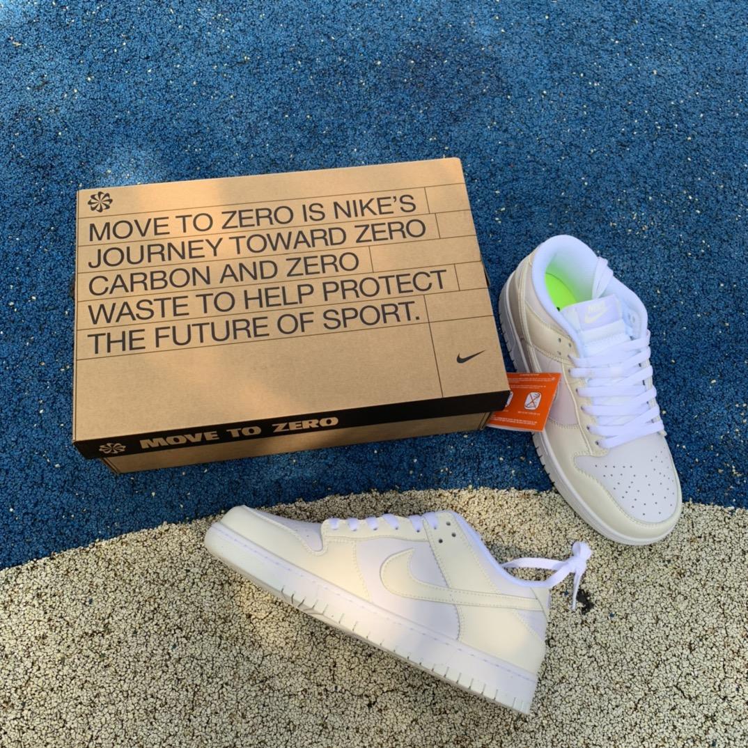 "Dunk Low ""More To Zero"" 奶油白 环保材料休闲运动板鞋DD1873-101_莆田ljr是什么意思"