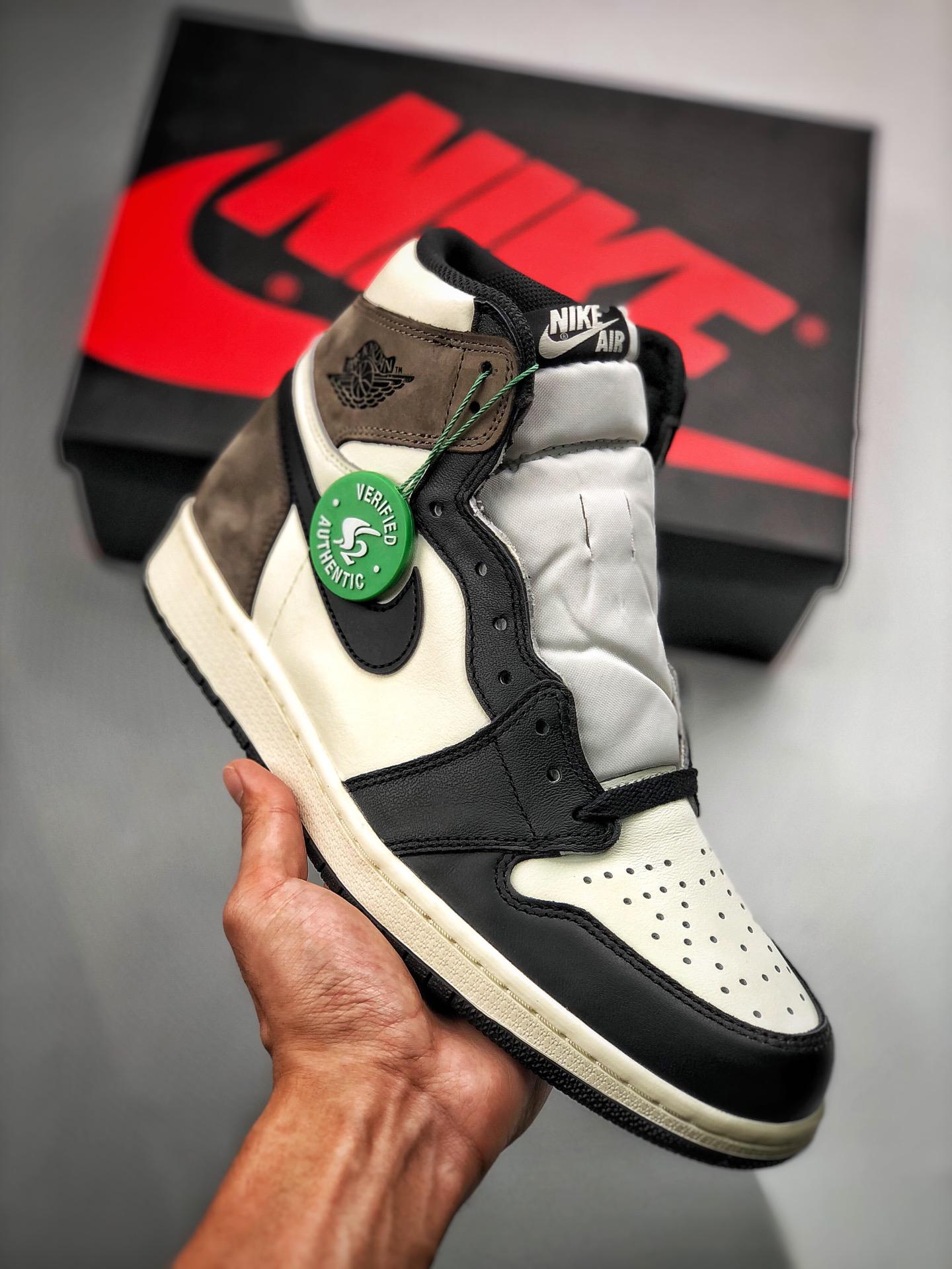 "Air Jordan 1 Retro ""Dark Mocha"" 小倒钩/摩卡咖啡色 货号:555088-105_s2纯原椰子500"