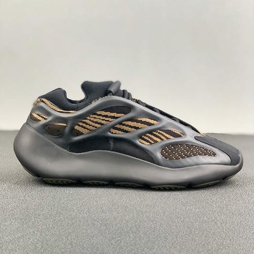 """河源裸鞋 YEEZY BOOST 700V3""""Eremiel""""黑黄 货号:GY0189_河源裸鞋有鞋带吗"""