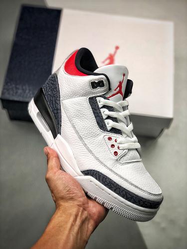 """S2原装AJ3 CZ6431-100 Air Jordan 3 SE Denim""""Fire Red"""" 丹宁火焰红乔3白红 货号:CZ6431-100_河源裸鞋去哪买"""