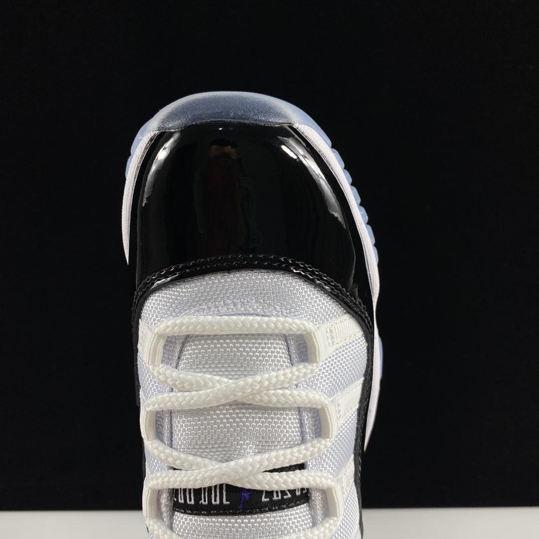 """LJR版AJ11白黑 Air Jordan 11 """"Concord""""  货号:378037-100 乔11新白黑'45刺绣'_东莞LJR"""