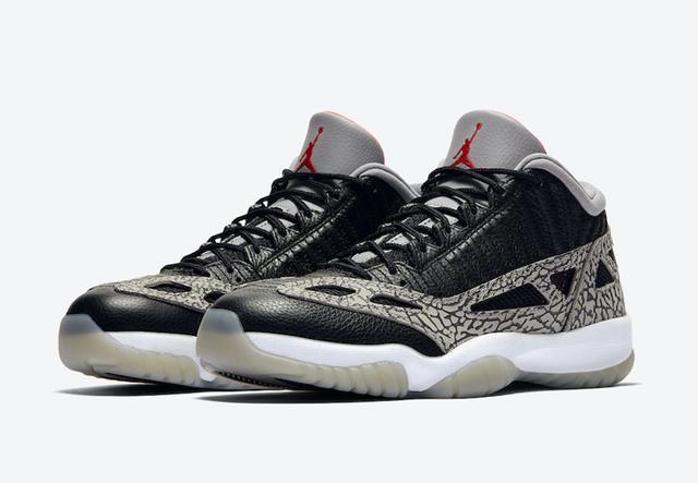 "Air Jordan 11 Low IE ""Black Cement"" 货号:919712-006_高仿nike网站"
