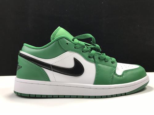 莞H版:AJ1 Low小凯尔特人白绿低帮 Air Jordan 1 low OG,货号:553558-301_莆田鞋ljr
