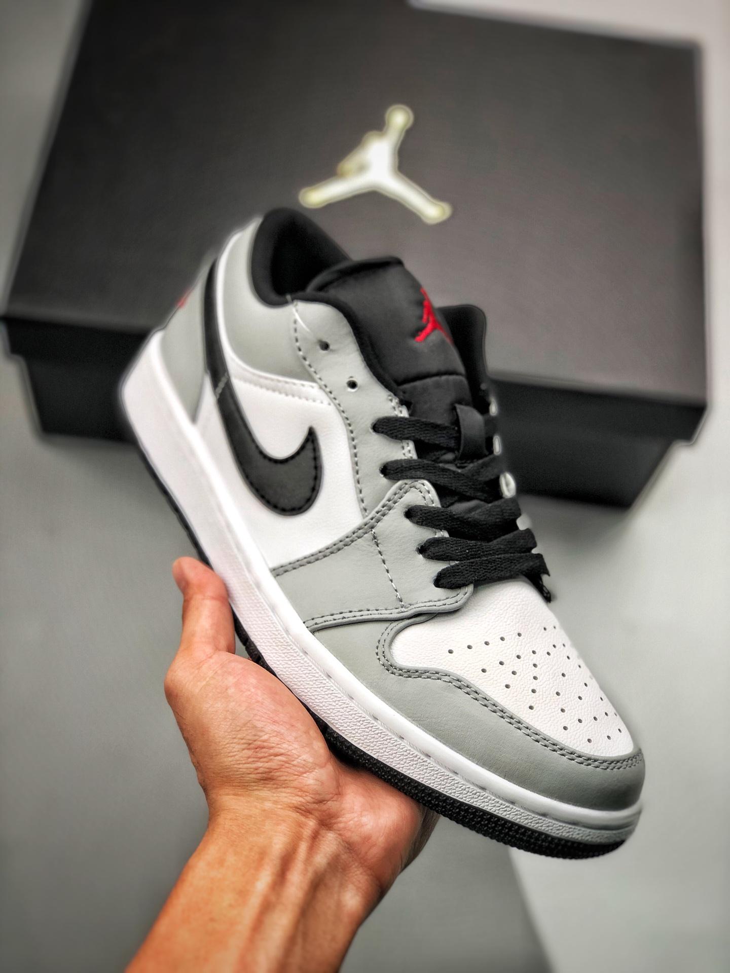 S2低帮low系列 Air Jordan 1 Low 灰黑低帮 小迪奥 烟灰色 白灰黑色 货号:553560-030_什么是s2纯原生产线