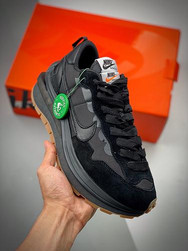 "Sacai x NK Vaporwaffle 3.0  ""Black"" 黑生胶 S2纯原生产线  DD1875-001_河源裸鞋有鞋带吗"