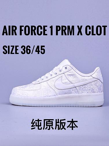 "Air Force 1 PRM x CLOT""白丝绸""_GT毒版微信"