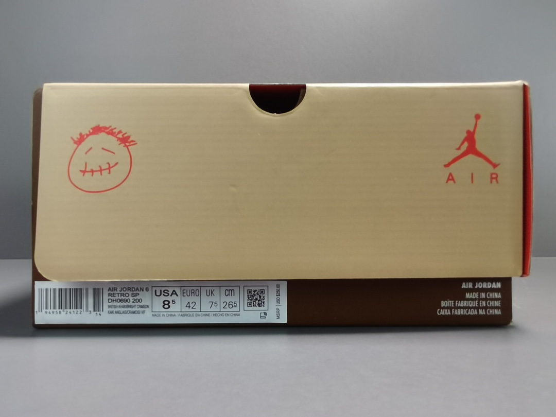 OG版_乔6 Travis Scott x Air Jordan 6 AJ6 TS联名卡其棕色 货号:DH0690-200_og毒版和正版区别