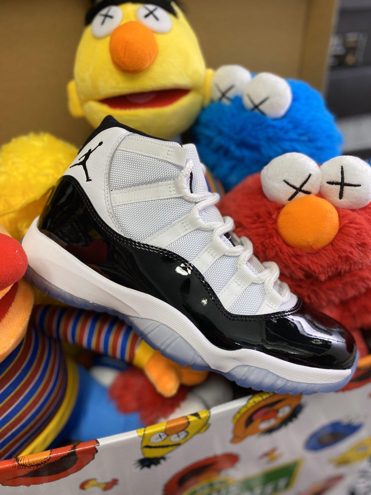"Air Jordan 11 ""Concord"" AJ11乔11康扣 ""45""号 378037-100-特供版aj13熊猫"