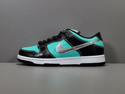 DUNK SB_钻石 Nike Dunk Low Pro SB  Tiffany 配色Aqua-Cool Grey 货号3042_og毒版700v2