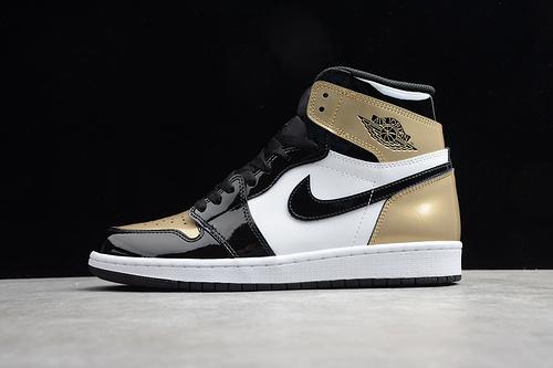 "ST版 Air Jordan 1 ""Gold Toe"" 黑金脚趾配色 861428-007_纯原和ljr区别"
