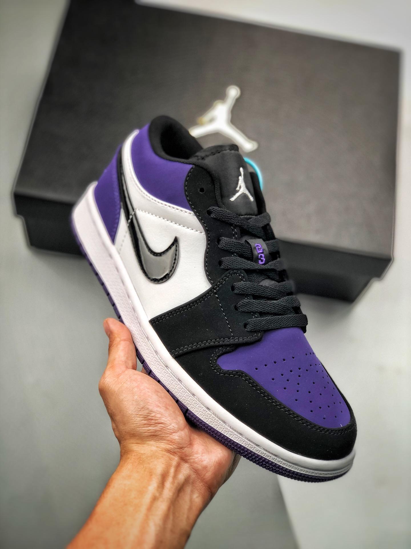 S2低帮low系列 Air Jordan 1 Low 黑紫葡萄 553558-125 恶人紫色_莆田鞋cj什么意思