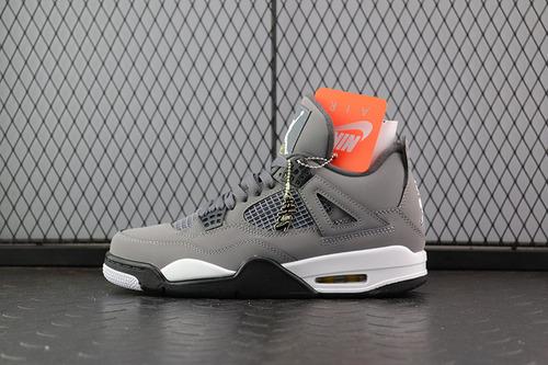 "Air Jordan 4""Cool Grey""AJ4 乔4酷灰麂皮灰老鼠 308497-007_黑椰子h12"