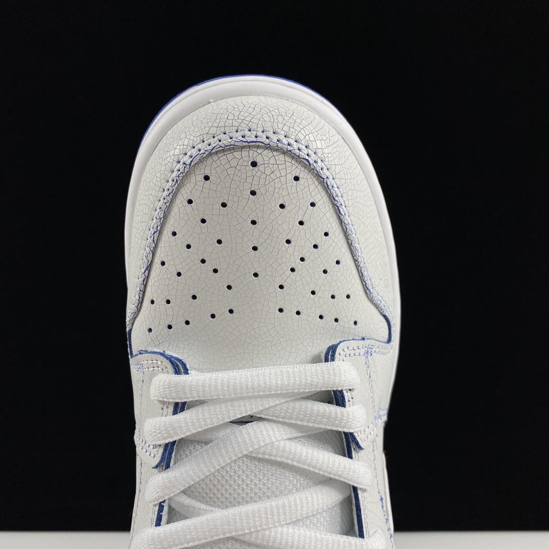 "SB Dunk Low Pro Premium""White/Game Royal"" AU扣篮系列低帮休闲运动滑板板鞋""刮刮乐爆裂纹冰蓝青花瓷""CJ6884-100_莆田ljr的货搞"