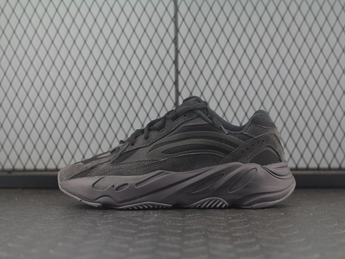 PK版Adidas Yeezy Boost 700 V2 Inertia FU6684 侃爷椰子700 全黑色跑鞋 3M反光 巴斯夫爆_共享工厂pk自有工厂