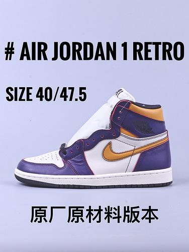 "Air Jordan 1 系列 ""湖人 刮刮乐""_aj1 GT毒版"