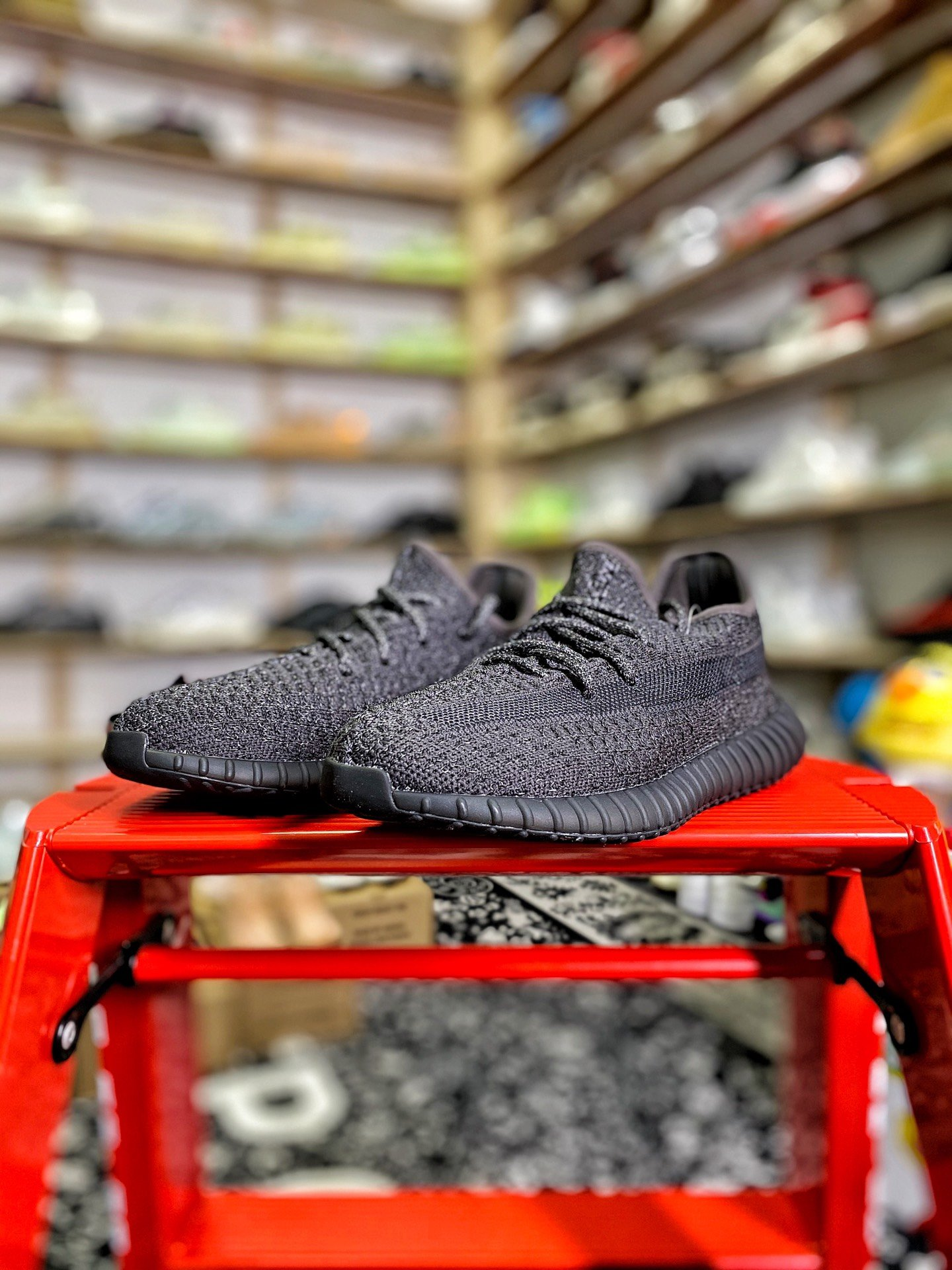 """Yeezy 350v2 """"童鞋 黑满天星 货号:FU9012-特供版 aj1 又拍"""
