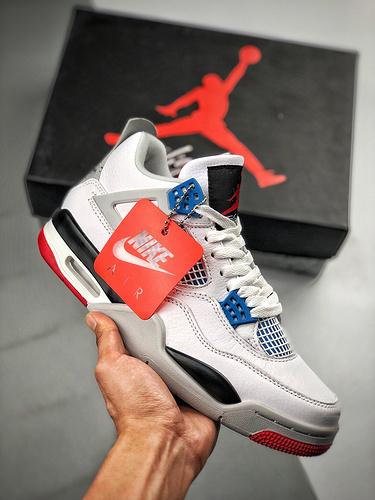 Air Jordan 4 SE 'What the' 红蓝鸳鸯_假鞋五个等级