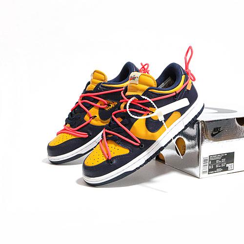 M版黑曜石 OFF-WHITE x Nike Dunk low 黑曜石 绑带 OW联名板鞋 CT085-700_椰子350 老汪对比og