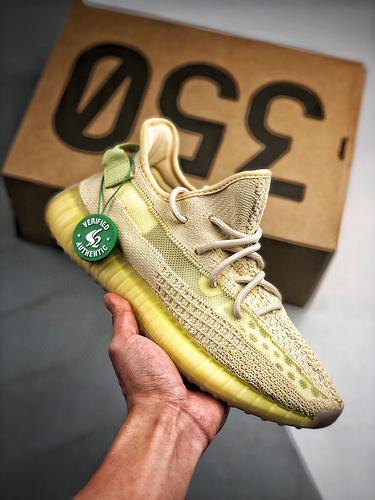 "Yeezy 350V2 ""Flax"" 亚麻黄 亚洲限定_AJ1河源裸鞋"
