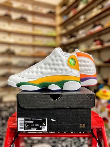 """Air Jordan 13 """"Playground"""" (GS)  13鸳鸯 绝对的女神专属 货号:CV0785-158_aj1特供版和纯原"""