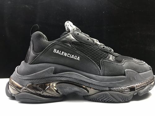 巴黎老爹鞋全黑 国产版 Balenciaga Tripe-S 巴黎世家复古老爹鞋_莆田ljr一般多少钱