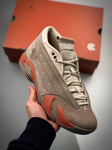 "CLOT x Air Jordan AJ14 Low  ""Terracotta""联名兵马俑配色货号:DC9857-200_莆田耐克工厂店在哪里"