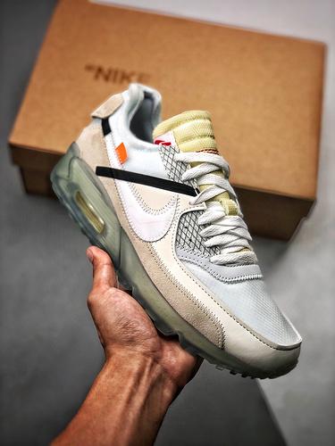S2纯原Off-White x Nike Air Max 90 最强联名款 冰蓝配色 AA7293-100_代工厂出来的鞋子可以买吗