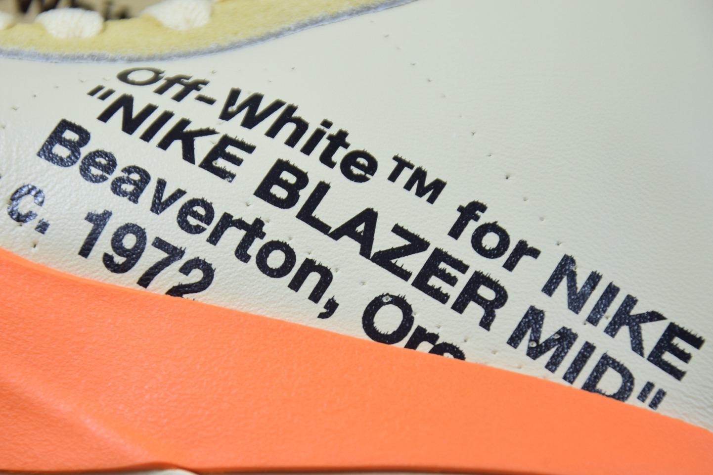 OFF-WHITE X NK  BLAZER MID Grim Reaper  万圣节南瓜OW联名开拓者AA3832-700_椰子350v2 g5