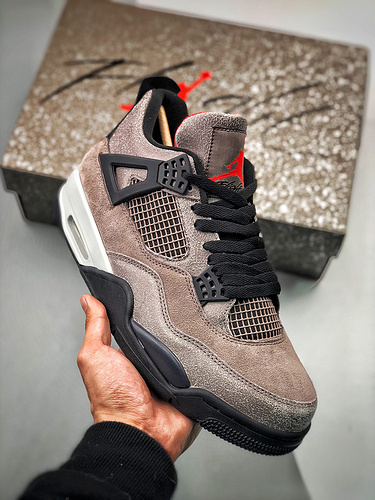 "Air Jordan 4 Retro ""Taupe Haze"" 黑棕爆裂 / 摩卡配色 货号:DB0732-200_荔城s2纯原"