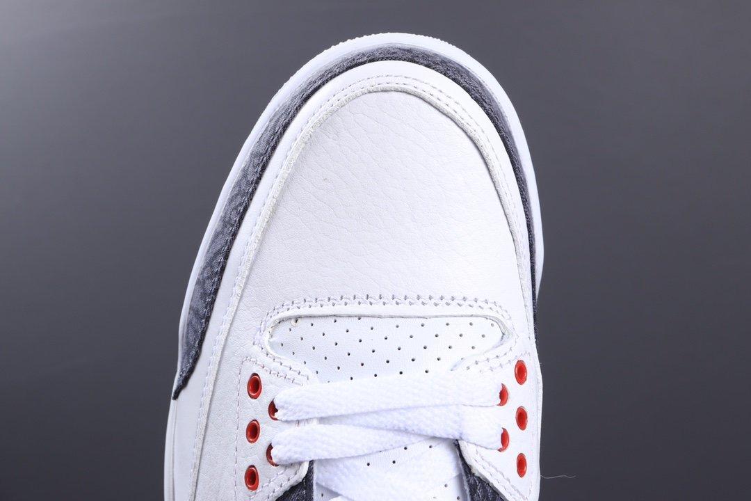 """莞顶Air Jordan 3  SE Denim""""Fire Red"""" 日本限定 AJ3代中帮复古休闲运动文化篮球鞋 CZ6431-100_椰子350老汪联系方式"""