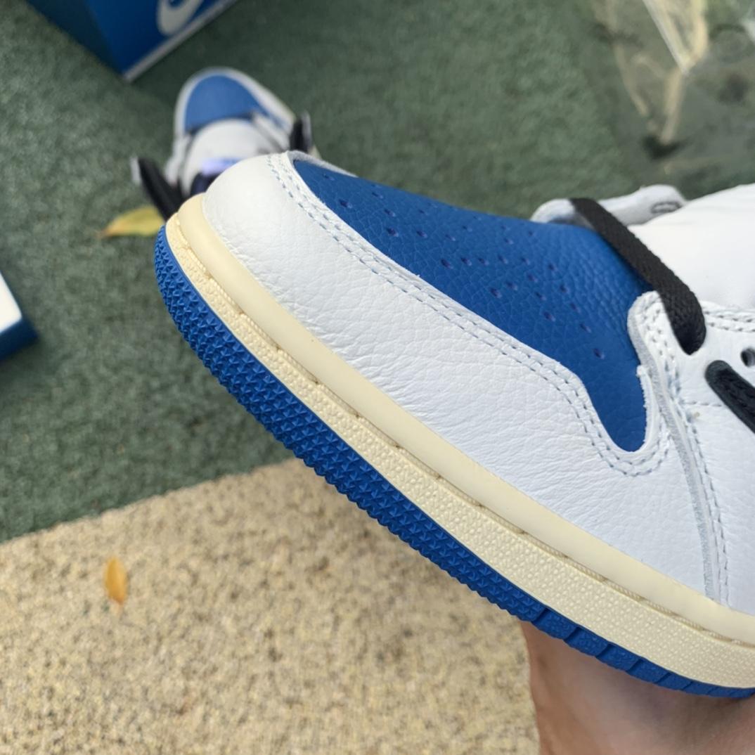 LJR出品-Travis Scott x Air Jordan 1 AJ1闪电倒钩白蓝篮球鞋DH3227-105_莆田系ljr
