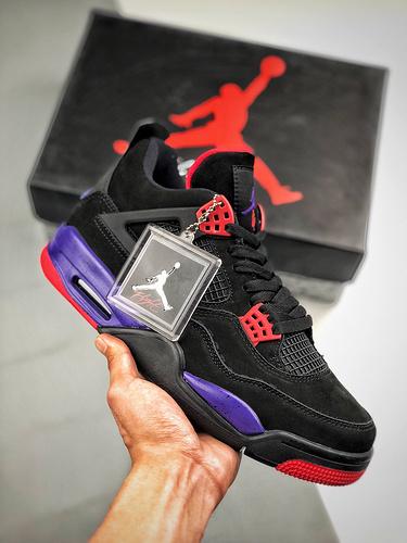 "Air Jordan 4 Retro ""Raptors NRG""   黑紫猛龙  货号AAQ3816-065_s2纯原和og"