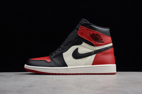 ST纯原 Air Jordan 1 红脚趾 555088-610 男鞋_莆田小学英语用的是什么版本