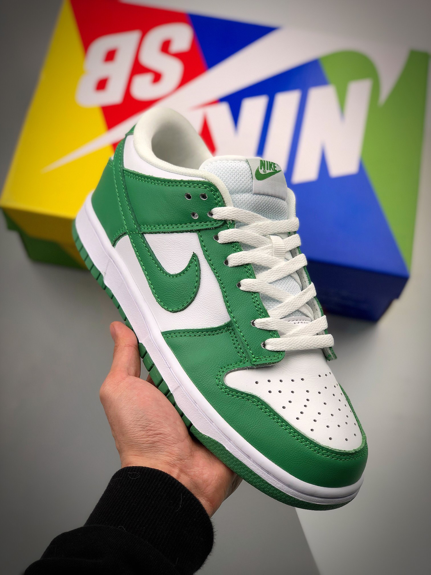 Nk SB Dunk Low SP Green Tender powder 2021 荧光绿低帮滑板鞋 CU1726-188_莆田鞋纯原什么水平