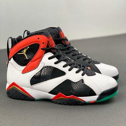 """Air Jordan 7 Cspace 紫禁之巅 中国祥云 夜光 Icicle""""多色素拼接 货号:CW2805-160_河源裸鞋和刘佳瑞"""
