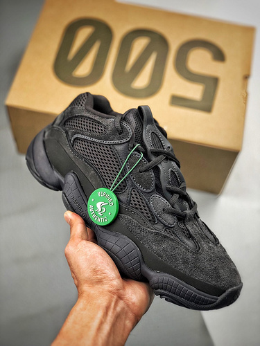 S2-OG纯源 Adidas Yeezy500 Utility Black 纯黑配色 F36640_s2纯原aj多少钱