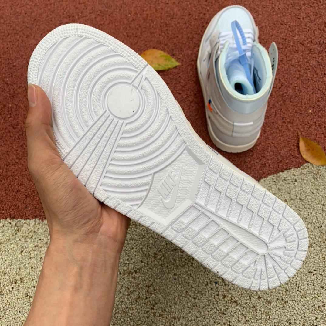 LJR出品-ow联名纯白-OFF-WHITE x Air Jordan 1 White AJ1 Ow联名纯白 AQ0818-100_有没有好的莆田鞋微信号推荐