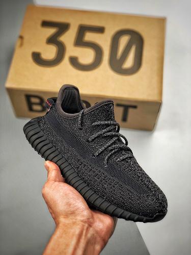 Yeezy 350v2 'Black' 黑满天星 童鞋_郴州裸鞋跟河源裸鞋