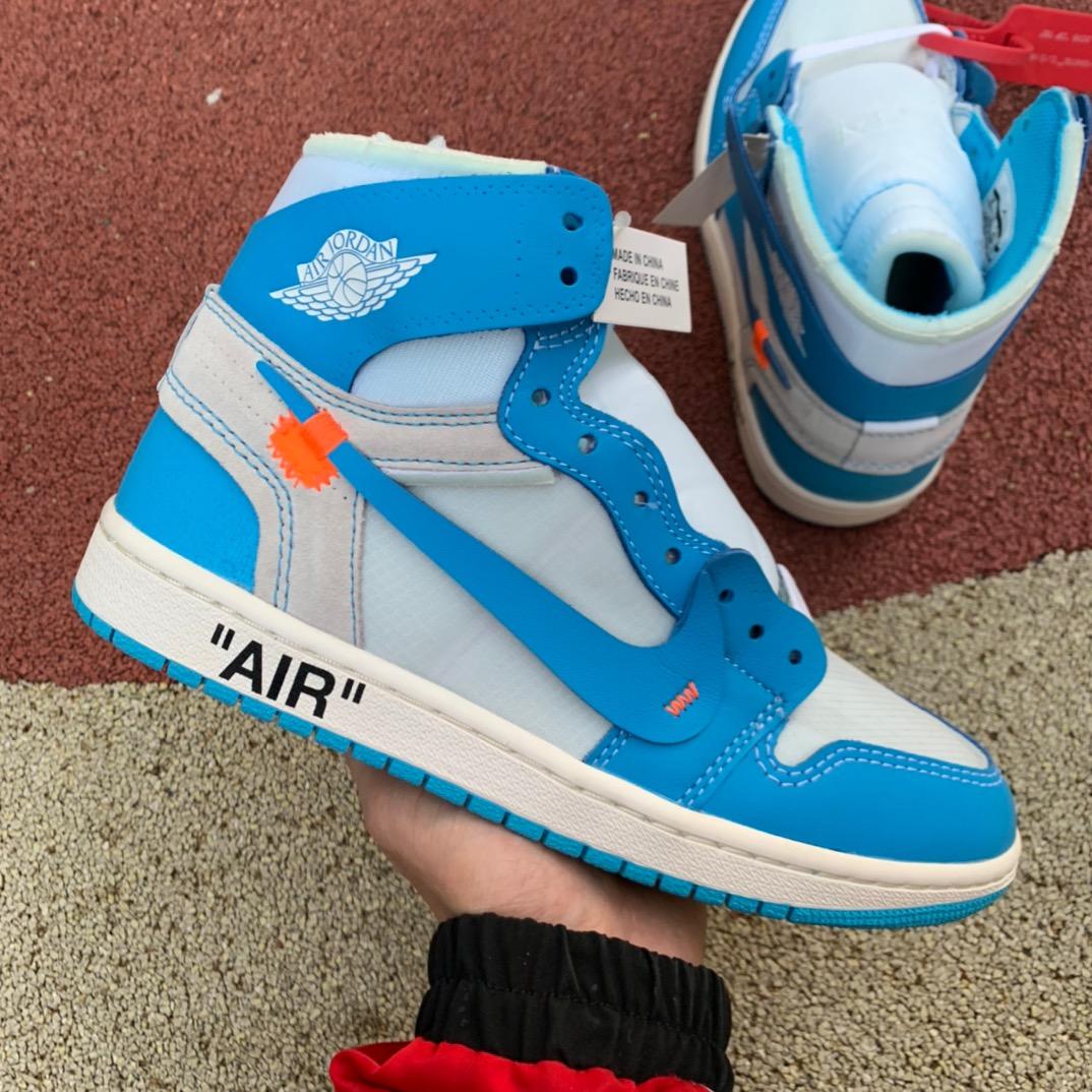 LJR出品北卡蓝-Air Jordan 1 x OFF-WHITE AJ1 OW联名北卡蓝AQ0818-148_ljr版本aj6