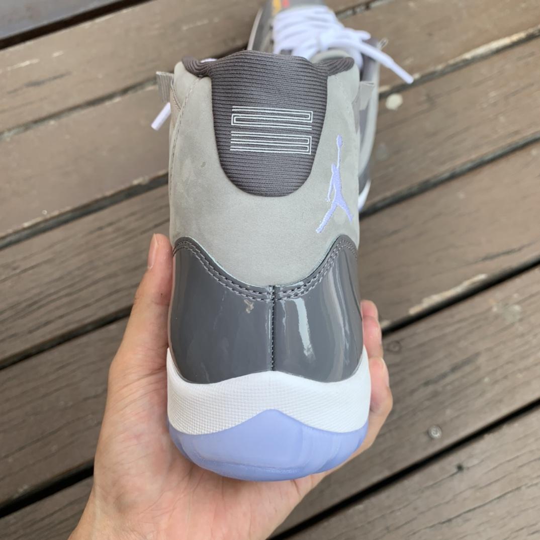 "LJR出品_Air Jordan 11 Retro ""Cool Grey"" 酷灰灰白高帮  CT8012-005_aj北卡蓝黑曜石莆田版多少钱"