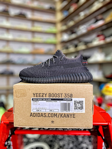 "Yeezy 350v2 ""童鞋 黑天使 货号:FU9013_aj1特供版多少钱"