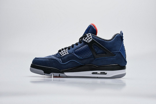 """纯原新货 Air Jordan 4 WNTR """"Loyal Blue""""午夜黑蓝_莆田哪个厂的鞋最好"""