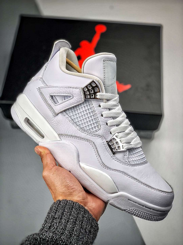 "Air Jordan 4 ""Pure Money""  4白猫_s2纯原微"