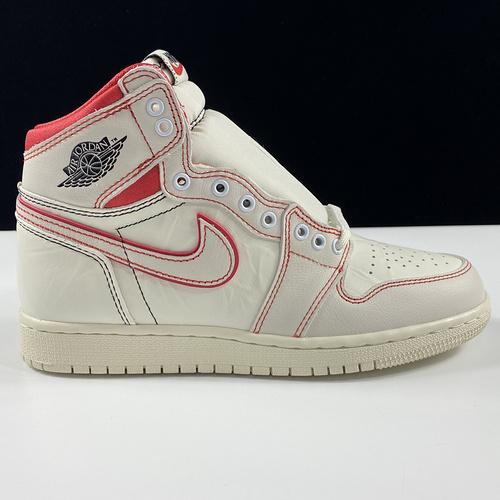 "Air Jordan 1 Retro High "" Phantom"" OG AJ1 白红手稿 兔八哥文化篮球鞋 555088-160_莆田ln版本"